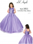 Discount Beautiful Purple ball gown strap floor length Lavender Lil Anjali Girls Pageant Dress 1011