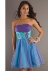 Discount Short Strapless Prom Dress 6088