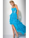 Discount Strapless Prom High-Low Dress by Jovani 7327