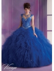 Discount 2014 Exquisite Royal Blue Quinceanera Dresses with Beading MLER074