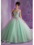 Discount 2014 Modest Off The Shoulder Beading and Sequins Sweet 16 Dress in Mint MLER066