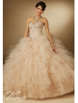 Discount New Arrival Champagne 2015 Summer Quinceanera Dresses with Beading MERL009
